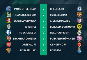 CL round of 16 draws 2015